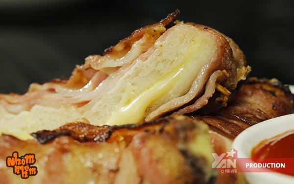 bacon cuộn sandwich, cách làm bacon cuộn sandwich, các món ăn từ bacon