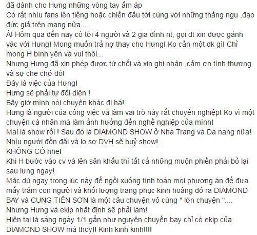 Fans Đàm Vĩnh Hưng thay nhau xin