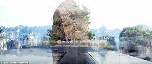 Cùng hiệu ứng mây và sương nhân tạo, khách tham quan khi đi qua cầu sẽ có cảm giác như đang sống trong những bộ truyện kiếm hiệp Kim Dung với cảnh tượng bồng lai tiên cảnh.
