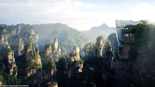 Khách du lịch cũng có thể nghỉ dưỡng tại khu vực kì quan này với những dịch vụ khách sạn được xây dựng tại vách núi.