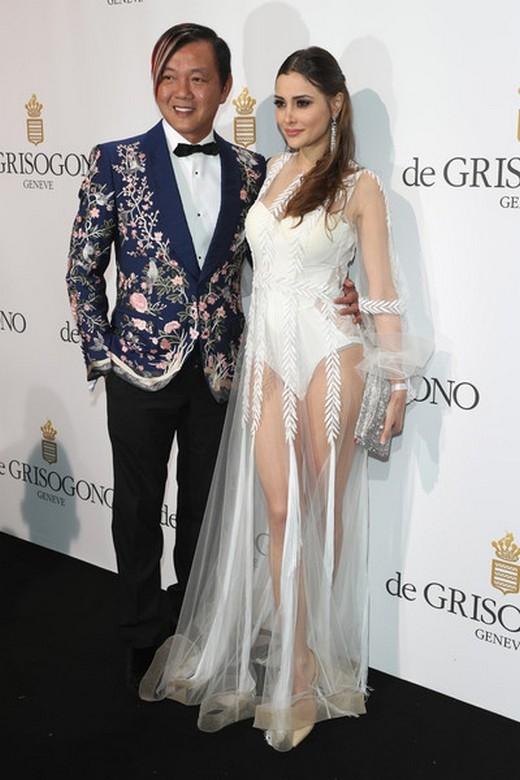 Stephen Hung và Deborah Valdez-Hung tham dự Tiệc De Grisogono trong khuôn khổ Lễ hội Phim Cannes lần thứ 69 tại Khách sạn du Cap-Eden-Roc ngày 17/5/2016 ở Cap d'Antibes, France.