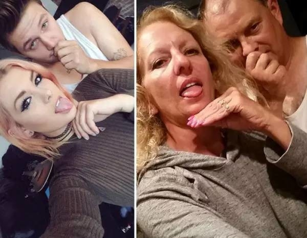Ít có bố mẹ nào dễ thương như này lắm nha.(Ảnh: Internet)