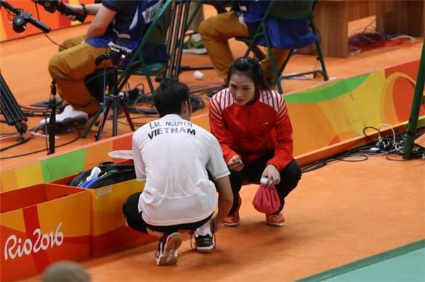 Nguyễn Tiến Minh và Vũ Thị Trang cùng nhau thi đấu tại Olympic Rio 2016. (Ảnh: Internet)