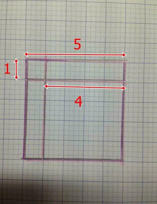 Các bạn trẻ phân tích trên trang vở ô li để mọi người dễ dàng nhận định được hình vuông trong bài toán.(Ảnh: Internet)