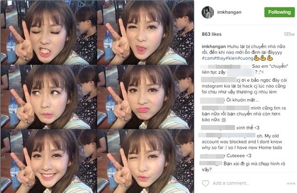 Bức hình đầu tiên trên Instagram củaKhả Ngânthu hút tới 863 lượt like.