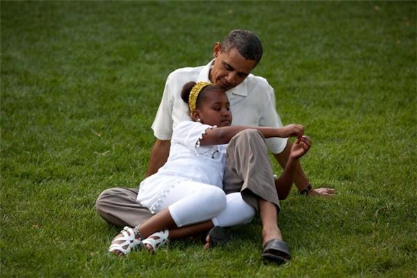 Chùm ảnh chứng minh Obama là người cha tuyệt vời nhất thế giới