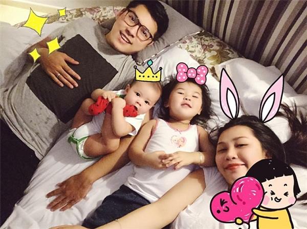 Gia đình nhỏ hạnh phúc của Gào.