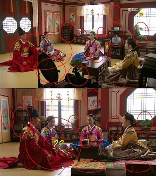 Chỉ trong tích tắc máy quay thay đổi bối cảnh căn phòng trong phim bỗng chốc khác biệt hoàn toàn.