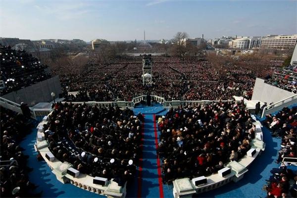 Sân khấu tuyên thệ của Donald Trumpsẽ có quy mô tương đương như thế này.