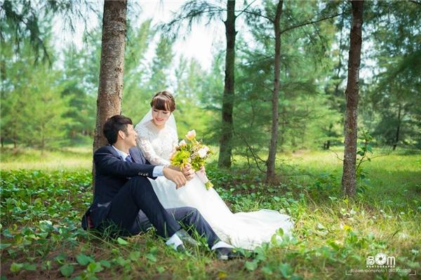 Ảnh cưới tuyệt đẹp của cặp đôi vàng cầu lông Việt Nam. (Ảnh: FBNV)