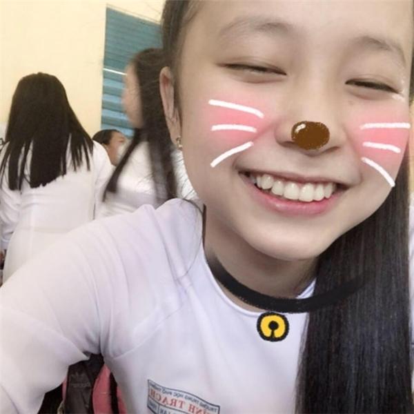Hoàng Lancó nụ cười tươi rói, dễ thương.(Nguồn: Internet)