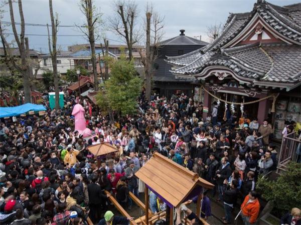 Lễ hội Kanamara Matsuri hay còn gọi là lễ hội ăn trộm dương vật. (Ảnh: Internet)