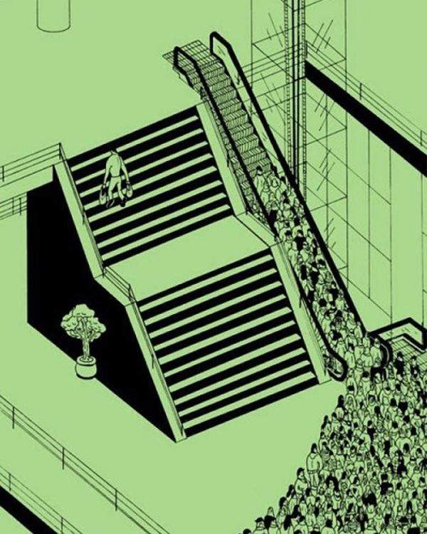 Trong nhiều hoàn cảnh, con đường tốn công để đi nhất lại là con đường tốt nhất. Con đường dễ đi nhấtlại là con đường khiến bạn trì trệ nhất. (Ảnh: Internet)