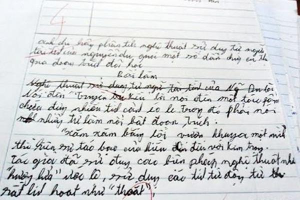 """Và đây là những bài văn có cùng hoàn cảnh """"chữ biếtmình là ai,nhưng mình không biết chữ là gì"""". (Ảnh: Internet)"""