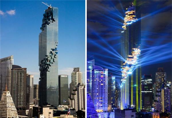 Tháp Mahanakhon cao 314 méttại Bangkok, Thái Lan. (Ảnh: internet)