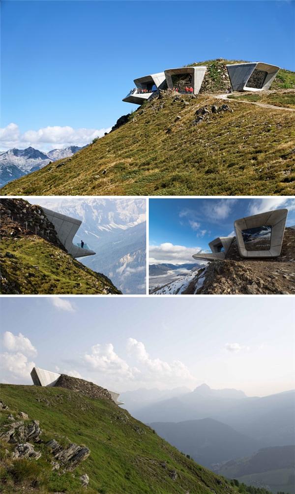 Bảo tàng Crowne trên đỉnh núi Mount Kronplatz, Ý. (Ảnh: internet)