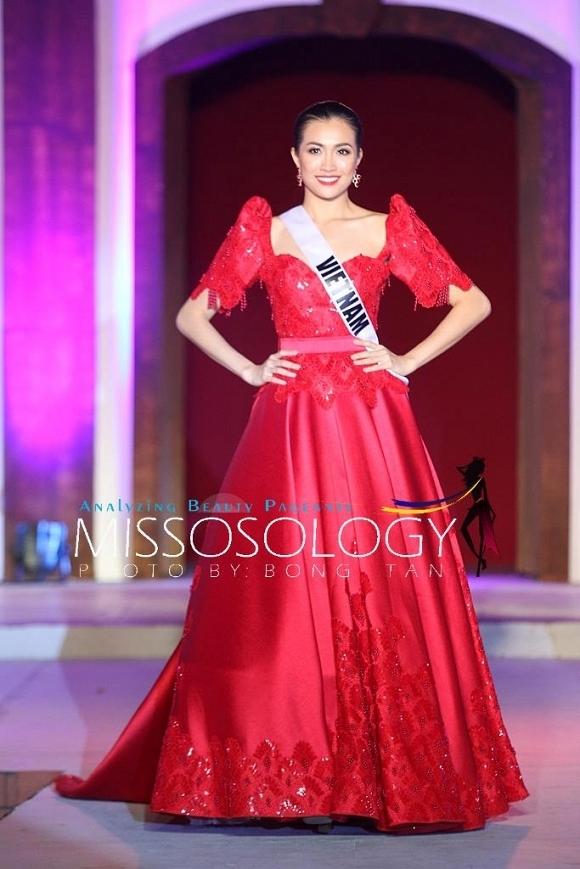 Lệ Hằng đọ tài cân sức với những đối thủ mạnh tại Miss Universe 2016
