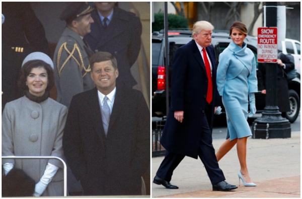 Bà Trump đã tái hiện lại hình ảnhJacqueline Kennedy - một trong những Đệ nhất phu nhân được lòng người dân Mỹ nhất