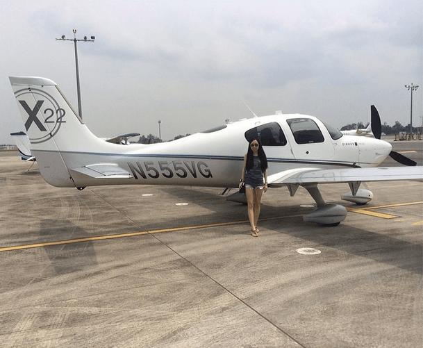 Audrey Tay -con gái giám đốc tập đoàn SUTL của Singapore thường xuyên đi du lịch bằng trực thăng riêng.