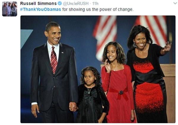 """""""Cảm ơn ngài Obama vì đã cho chúng tôi thấy sức mạnh của sự thay đổi."""""""