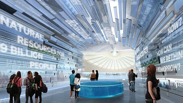 Kiến trúc bên trong của tòa nhà được xây dựng bằng công nghệ 3D ở Dubai. (Ảnh: internet)