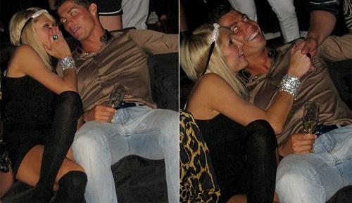 Ảnh chụp Ronaldo tình tứ với Paris trong hộp đêmMyHouse ở Hollywood.