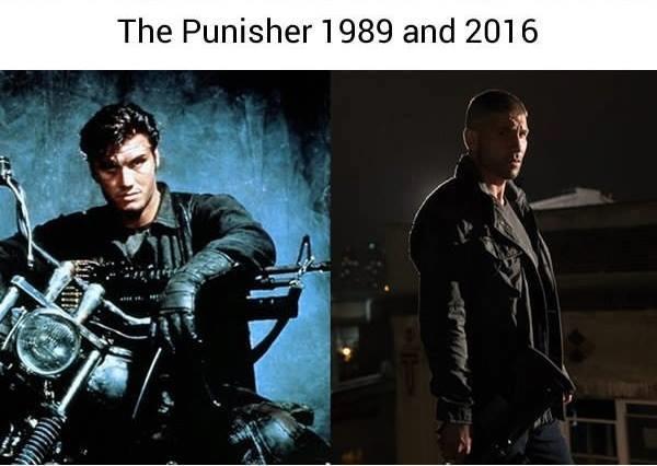 Kẻ Trừng Phạt 1989 trông ngầu hơn thật nhưng lại trông không khác gì một tay anh chị đứng đầu băng đảng mô-tô; trong khi đó phiên bản 2016 thì trông lại giống một gã lang thang đầu đường xó chợ.