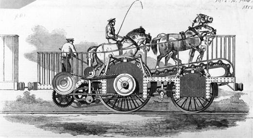 Trước khi đầu máy hơi nước ra đời, người ta từng cho tàu hỏa chạy bằng... sức ngựa.