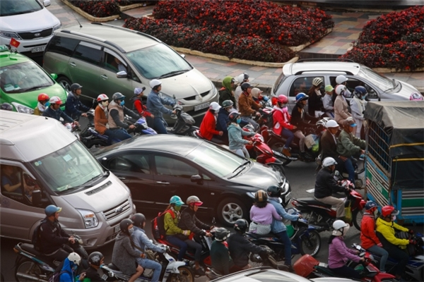 Khu vực vòng xoay giao thông rối loạn. (Ảnh: Internet)