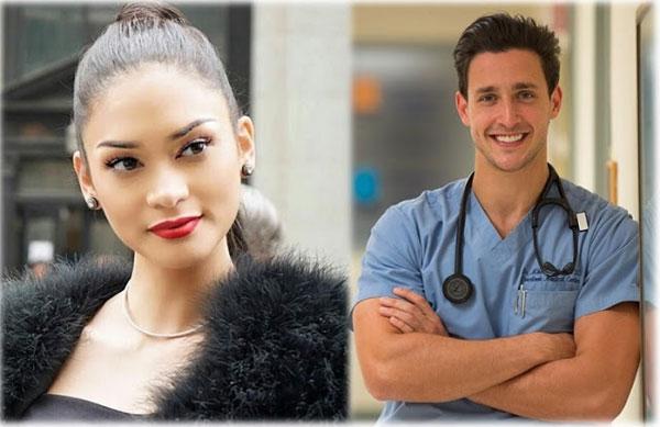 """Trung tuần tháng 3/2016, thông tin bác sĩ điển trai nhất thế giới Mike (Mikhail Varshavski) xác nhận đang hẹn hò Hoa hậu Hoàn vũ 2015 cũng khiến khán giả """"choáng váng""""."""