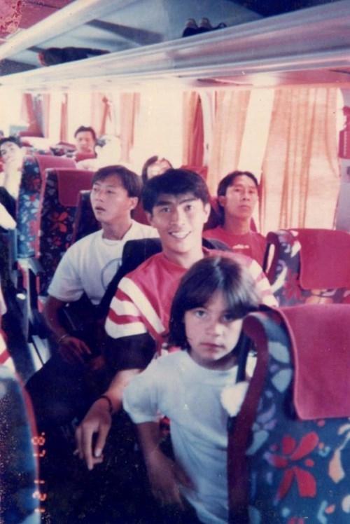 Huỳnh Đức và Minh Chiến trong đợt tập huấn ở Đức hồi năm 1996.