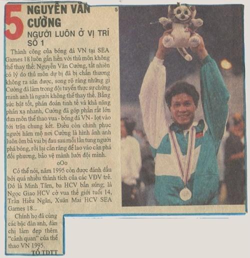 Thủ môn Nguyễn Văn Cường - người hùng cứu nguy cho tuyển Việt Nam kì Sea Games 18.