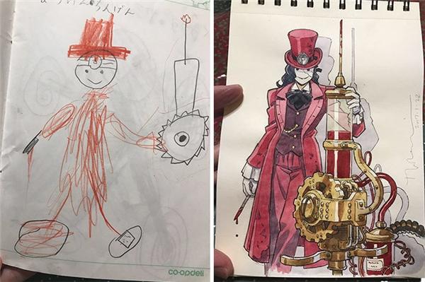Và một vị bác sĩ kì dị trong trang phục màu hồng. (Ảnh: Twitter)