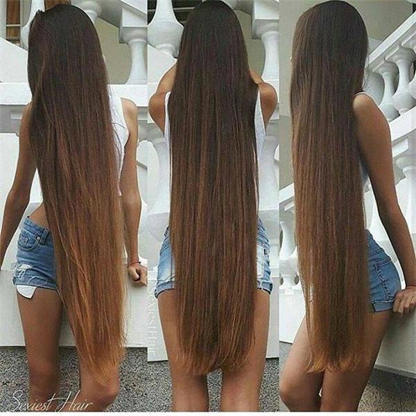 Nuôi tóc dài cũng là một lợi thế cho các cô nàng thích chụp ảnh phong cách giấu mặt.