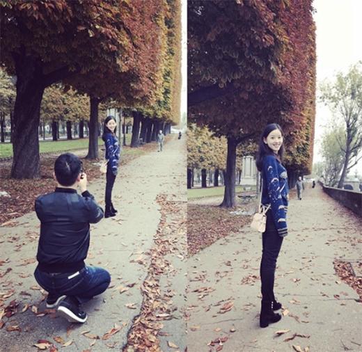 Cô được chồng chụp cho những tấm ảnh lung linh, xinh đẹp