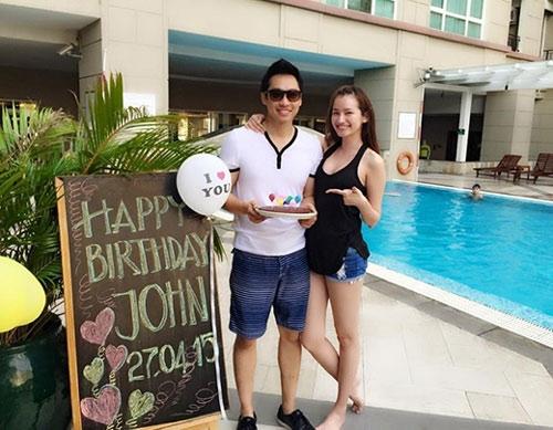 Trúc Diễm hạnh phúc bên chồng trong ngày sinh nhật. - Tin sao Viet - Tin tuc sao Viet - Scandal sao Viet - Tin tuc cua Sao - Tin cua Sao