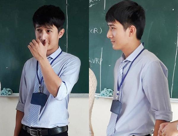 Những hình ảnh của thầy giáo điển trai và dễ mến này vẫn đang được chia sẻ chóng mặt. (Ảnh: FB)