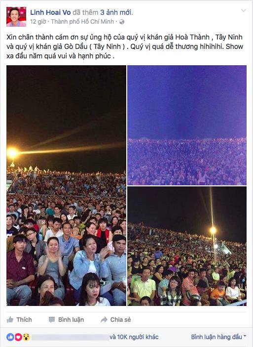 Hoài Linh gửi lời cảm ơn đến khán giả vì đã đến theo dõi đêm diễn của các anh chị, em nghệ sĩ nhân dịp đầu năm mới. - Tin sao Viet - Tin tuc sao Viet - Scandal sao Viet - Tin tuc cua Sao - Tin cua Sao