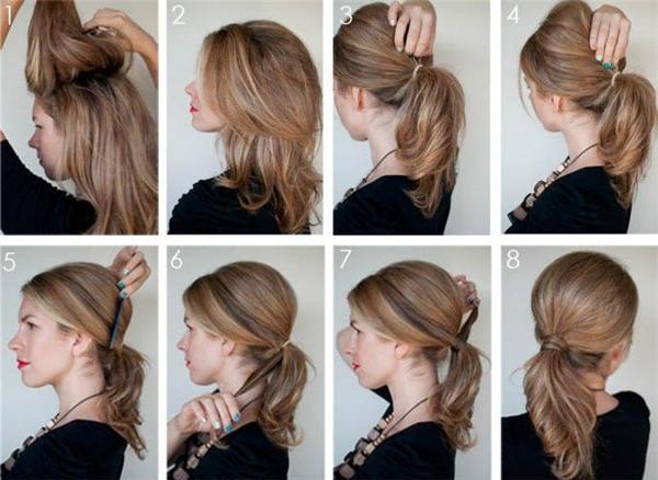 Kiểu tóc đơn giản này cực kì phù hợp với những buổi dạo phố, đi chơi cùng bạn bè đấy nhé.