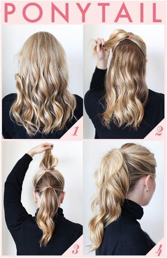 Buộc đuôi ngựa thôi nhưng với cách này sẽ làm mái tóc của bạn trông bồng bềnh hơn đấy.