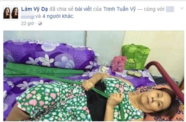 Nữ danh hài Lâm Vỹ Dạ cũng chiasẻbài viết của Trịnh Tuấn Vỹ. - Tin sao Viet - Tin tuc sao Viet - Scandal sao Viet - Tin tuc cua Sao - Tin cua Sao