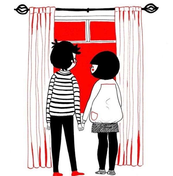 Em thích nhất mỗi lần ta nắm tay nhau ngắm cảnh trời.
