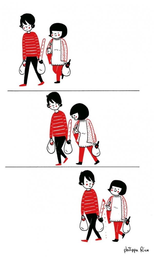 Hay đi mua sắm những món ăn mà cả hai yêu thích.