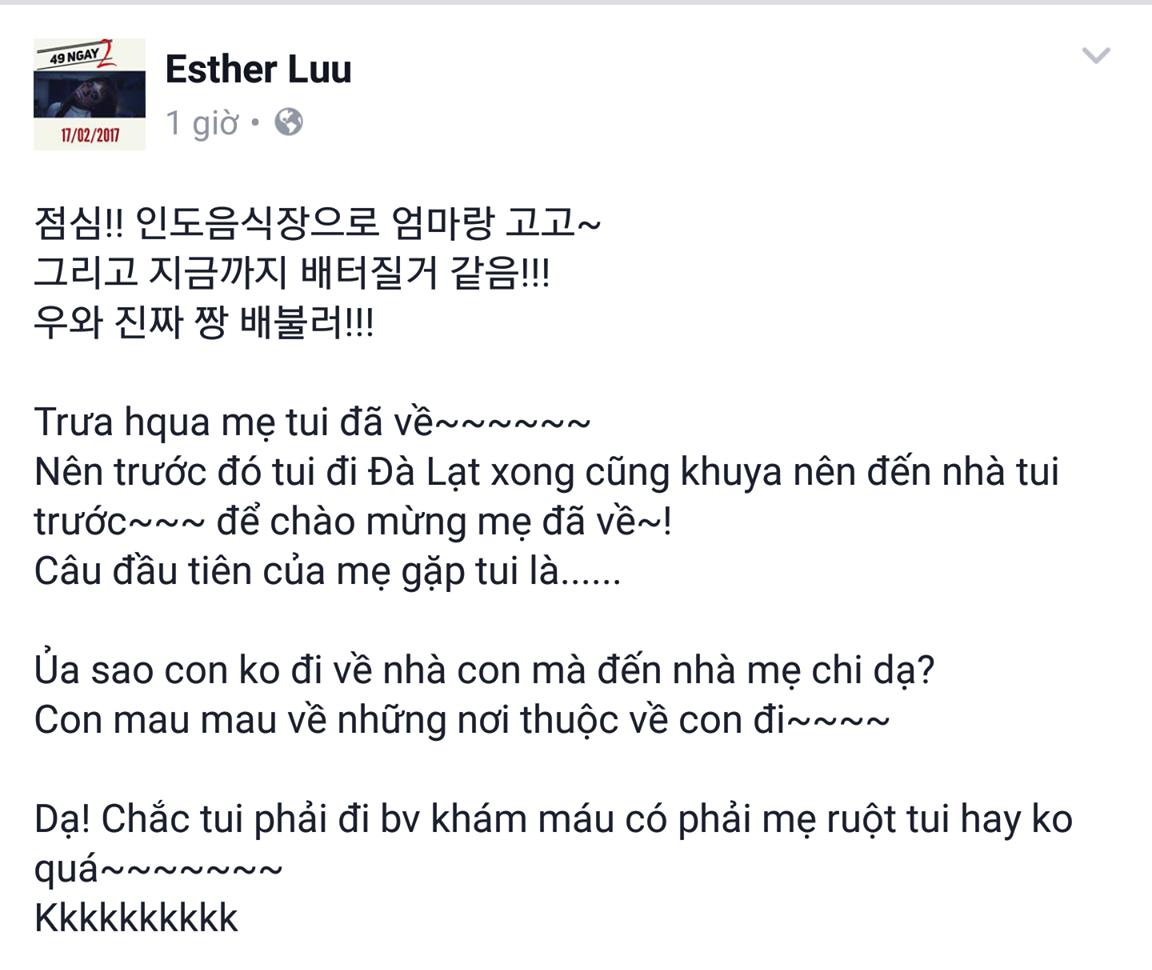 """Dòng trạng thái gây """"sốc"""" được Hari Won chia sẻ trên mạng xã hội mới đây. - Tin sao Viet - Tin tuc sao Viet - Scandal sao Viet - Tin tuc cua Sao - Tin cua Sao"""