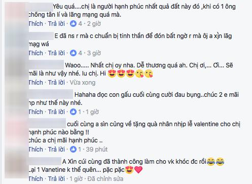 Rất nhiều fan ngưỡng mộ tình cảm mà Trấn Thành dành cho Hari Won. Họ gửi tới cặp đôi những lời chúc tốt đẹp nhất trong dịp Valentine. - Tin sao Viet - Tin tuc sao Viet - Scandal sao Viet - Tin tuc cua Sao - Tin cua Sao