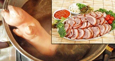 Chân giò lợn là món nhắm khoái khẩu tại Hàn.
