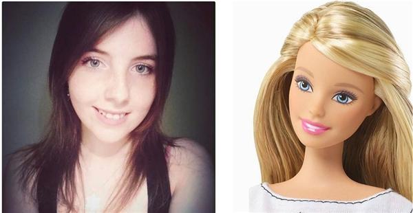 Tóc vàng, mắt xanh, da láng mịn thì chỉ có Barbie thôi nhé.