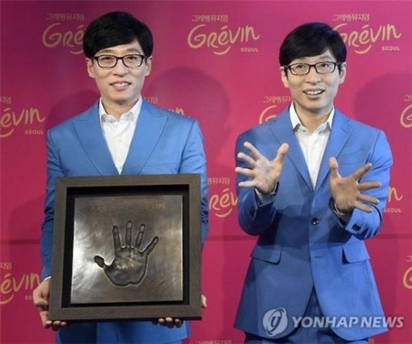 MC quốc dân vinh dự là nghệ sĩ truyền hình đầu tiên của Hàn Quốc được đúc tượng sáp.