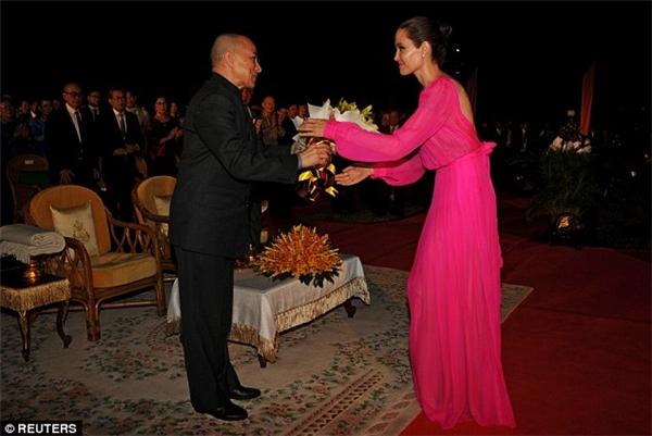 Cô thu hút với chiếc đầm chiffon hồng tôn lên vẻ đẹp sang trọng, quý phái.