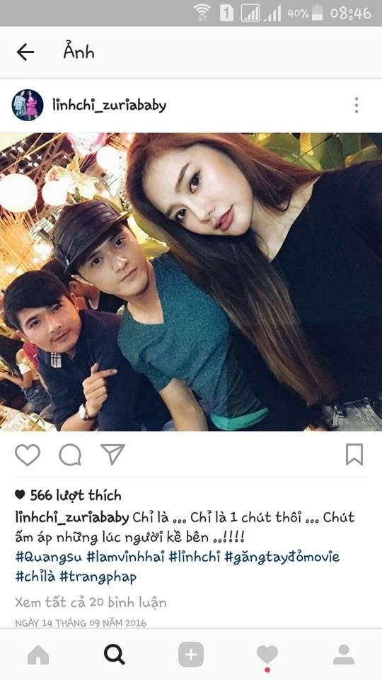 Lâm Vinh Hải công khai hẹn hò với Linh Chi sau khi ly hôn vợ - Tin sao Viet - Tin tuc sao Viet - Scandal sao Viet - Tin tuc cua Sao - Tin cua Sao